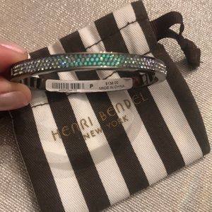 Henri Bendel rhinestone clip bangle